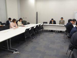 文部科学部門会議で文科省から予算案について聴取