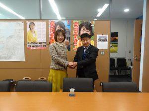緒方柳川市議の訪問を受けました。
