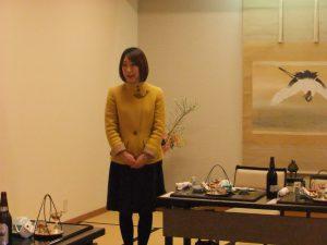 加茂箪笥協同組合の新年会でご挨拶