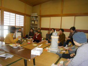 加茂市内で老人会の皆さんの集まりに顔出し