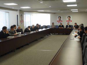 幹事長主催の部長会議