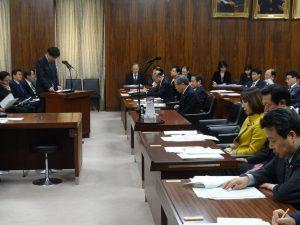 沖縄北方問題特別委員会で大臣所信を聴取
