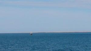 肉眼でもロシアの漁船がはっきり見えました。