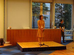 イベント終了後に新潟県企業懇親会があり、私も一言ご挨拶。この後皆さんとすっかり意気投合し新潟での再会を約束しました。皆さんあと2日大変ですが頑張って下さい。