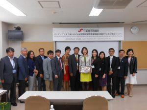 三条商工会議所でODA海外支援事業のベトナム研修生にご挨拶させて頂きました。
