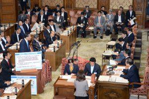 衆議院予算委員会にて民主党海江田代表、岡田最高顧問が質疑に立ち、集団的自衛権の閣議決定について政府の姿勢を質しました