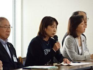 全ての日程を終了し、根室の千島会館にて記者会見