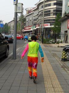 街で見かけたド派手なオバ様