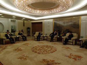中国の外務省である外交部を訪問