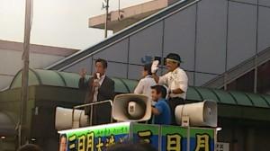 三日月大造滋賀県知事の誕生です。ここからがスタートです。是非滋賀県民の為に頑張って下さい
