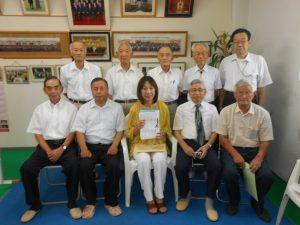 退職者公務員連盟の皆様が来所され、年金制度に関して要望書を頂きました。