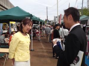 会場でバッタリ國定市長とお会いしました