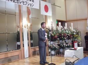 ロシア語も交えて挨拶された篠田市長