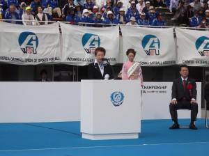 世界ゲートボール連合 小野清子会長