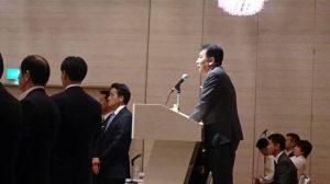 新しく幹事長に就任された枝野先生。多様性を大切にしたいと話されました。