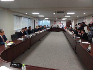 海江田代表をはじめ、民主党の役員が列席