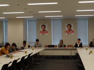 男女共同参画推進本部・内閣部門会議に出席