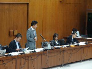 災害対策委員会に出席。わが党の泉健太議員が質問に立ちました
