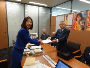 新潟県退職公務員連盟に皆さんが要望活動でお越しになりました。