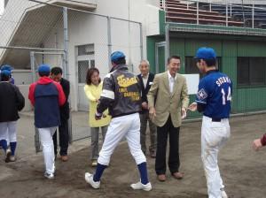 篠田市長も駆けつけました