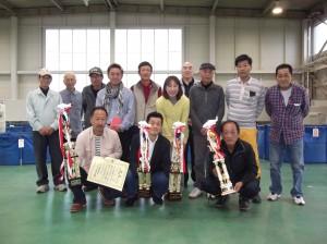 新潟県錦鯉愛好会の表彰式