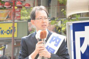 福島県知事選候補内堀まさおさん。様々な課題を抱える福島の未来を誠実に考え、頑張っています。