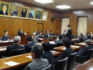 法務委員会に出席