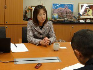 女性の政治参画について取材を受けました
