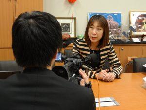 テレビ新潟から取材を受けました