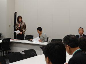 水俣病被害者国会議員連絡会に出席。一言ご挨拶。