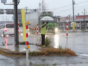 朝から冷たい雨でした