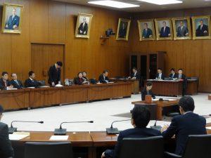 災害対策特別委員会に出席しました