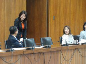 今は維新の太田和美先生と久々の再会。パワフルな女性議員が増えることは国会において心強いです。