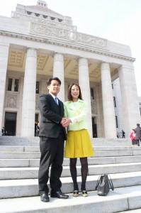 新潟の鷲尾議員と。共に故郷新潟の為に邁進する決意です