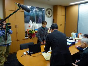 新潟県から上京されたノーモア・ミナマタの関係者と面会しました。