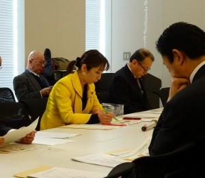 文部科学部門会議でH27年度予算案を精査