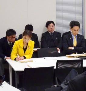税制調査会終了後、財務・金融部門会議にて27年度予算案についてヒアリング