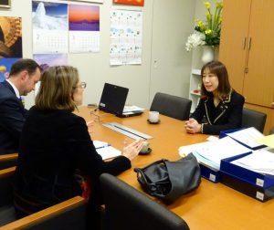 ダラ・ウィリアムズ駐日オーストラリア公使と面会。お互いの国の近況報告をしました。