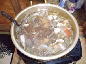 鴨鍋。とても身体が暖まり、益々パワーアップしました。