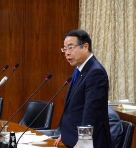 不適正除染は根絶すると、望月環境大臣から力強い答弁を頂きました。