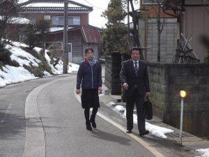 午後からは三条市内を藤田ひろふみさんと挨拶回り