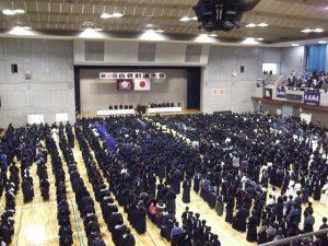 白根剣道大会開会式 大勢の皆さんが参加されました