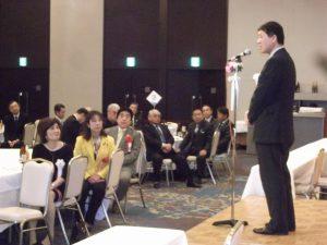 泉田後援会総会に出席