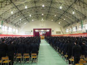三条商業高校の卒業式