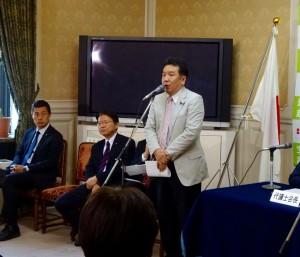 枝野幹事長の挨拶