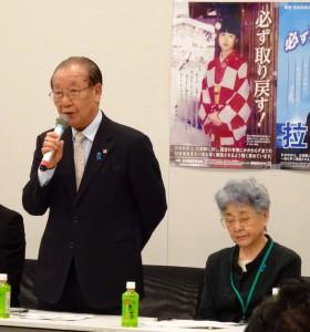 家族会の飯塚代表。家族会は明日3日、総理と面会をする予定です。
