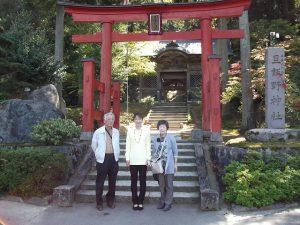 両親と旦飯野神社を参拝しました