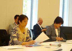 文部科学委員会終了後には、主権者教育WTが開催されました