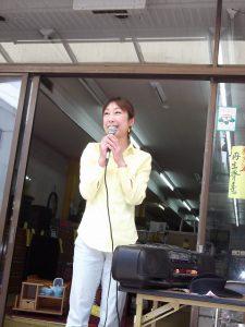 加茂駅前ちびっこ天国にて、急遽、ご挨拶させて頂きました。