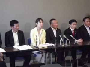 本日参加の議員連絡会の皆様と記者会見を開きました。